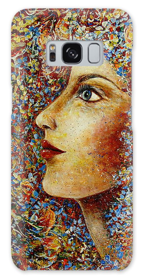 Flower Goddess Galaxy Case featuring the painting Flower Goddess. by Natalie Holland