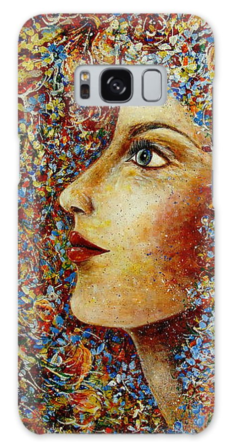 Flower Goddess Galaxy S8 Case featuring the painting Flower Goddess. by Natalie Holland