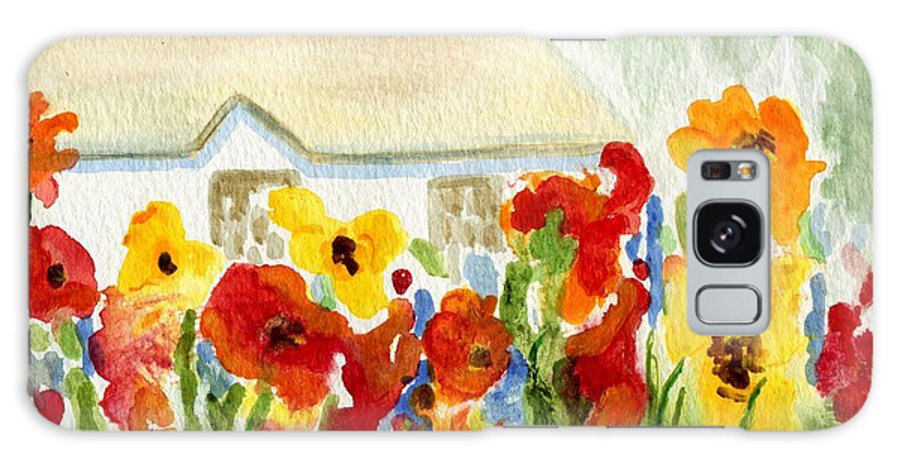 Flowers Galaxy S8 Case featuring the painting Flower House by Jamie Frier
