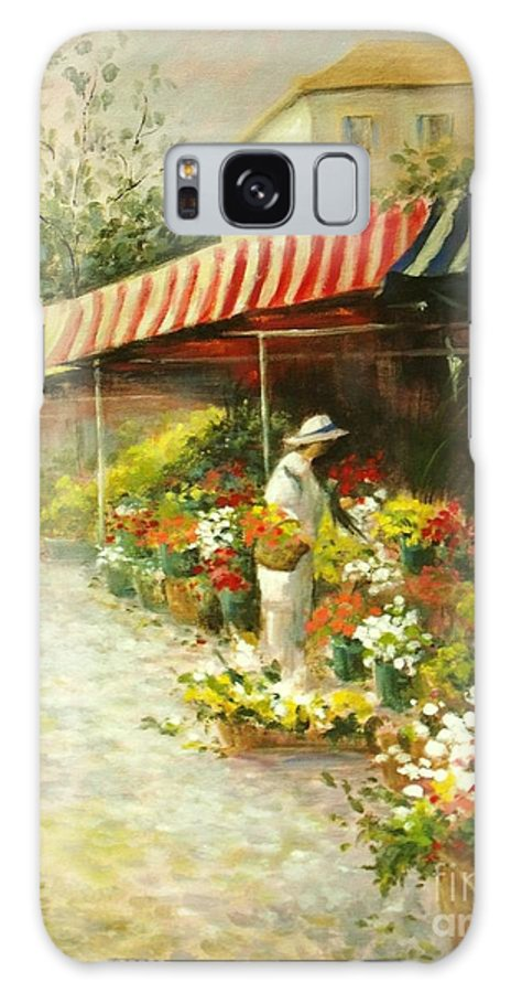 Canvas Prints Galaxy S8 Case featuring the painting Flower Market by Madeleine Holzberg