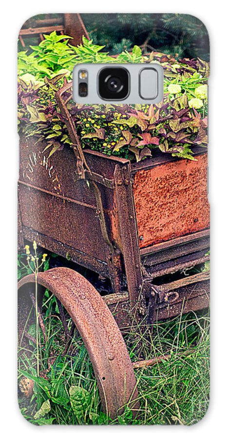 Flowers Galaxy S8 Case featuring the photograph Flower Wagon by Edward Fielding