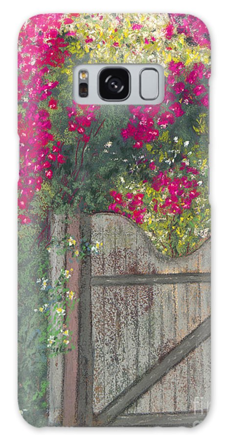 Flowering Vine Galaxy S8 Case featuring the painting Flowering Gateway by Ginny Neece