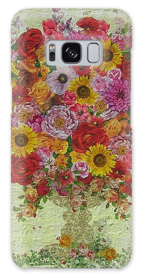 Flowers Galaxy S8 Case featuring the painting Flowers by Graziella Pesce