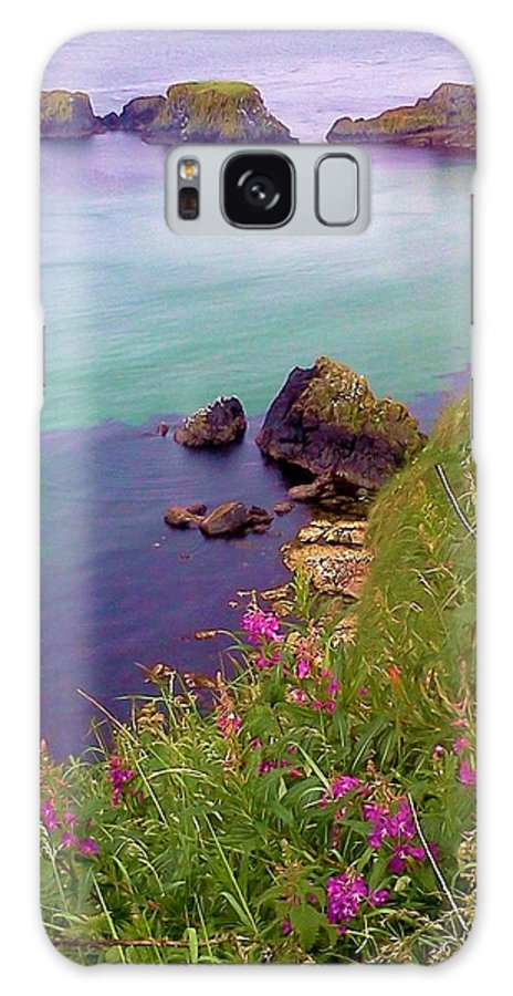 Ireland Galaxy S8 Case featuring the photograph Flowers On The Coast by Tara Potts