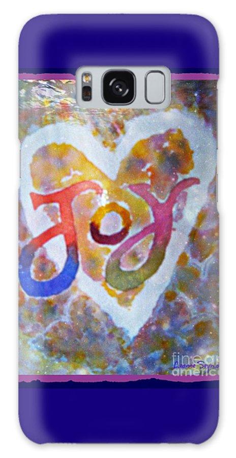 Joy Galaxy S8 Case featuring the mixed media Fluid Joy by Leanne Seymour