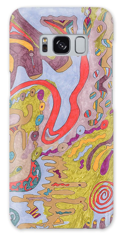 Butterfly Galaxy S8 Case featuring the drawing Flutterfly Land by Rebekah McLeod