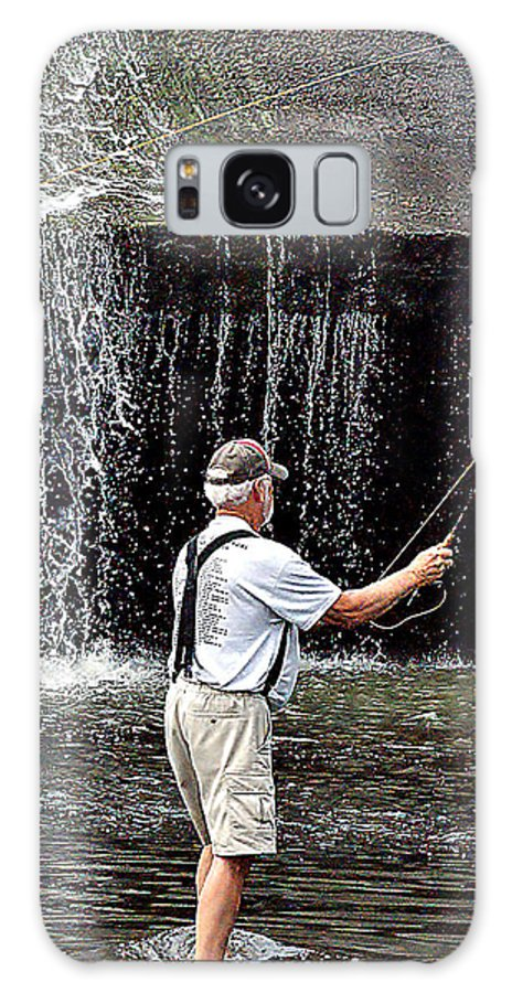 Image Galaxy S8 Case featuring the photograph Fly Fishing Without Flies by Bob Mullins