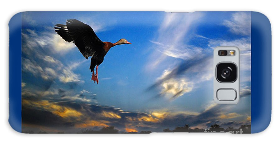 Flying Galaxy S8 Case featuring the photograph Flying Duck by Savannah Gibbs