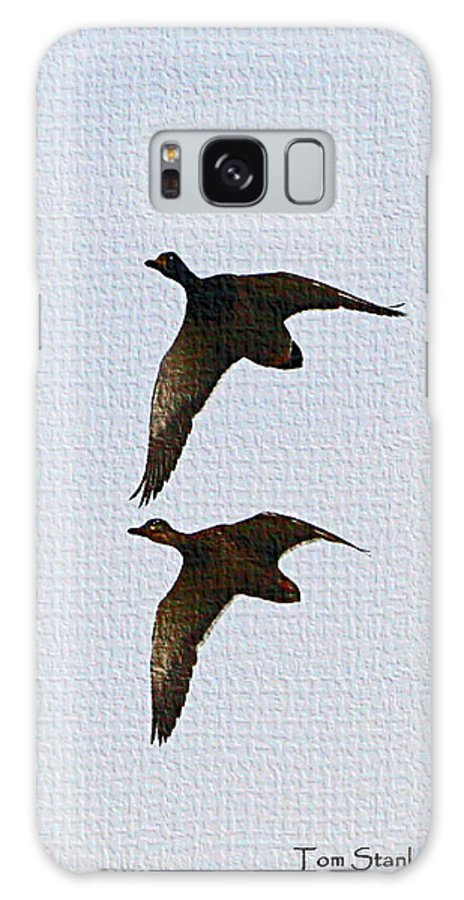 Flying Fast Ducks Galaxy S8 Case featuring the photograph Flying Fast Ducks by Tom Janca