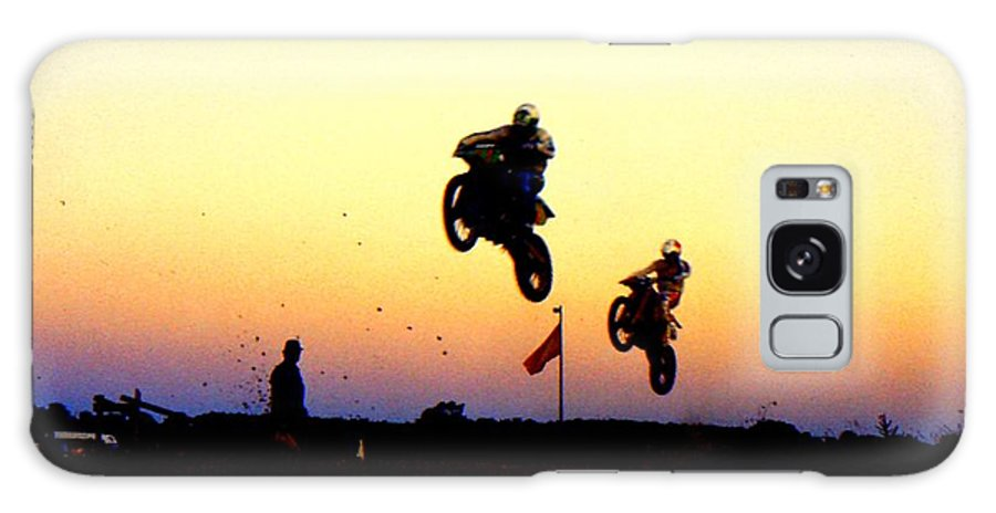 Supercross Galaxy S8 Case featuring the photograph Flying Frenchmen by Guy Pettingell