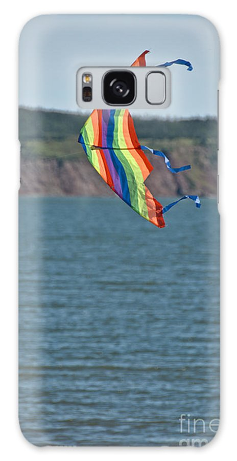 Galaxy S8 Case featuring the photograph Flying Kite by Cheryl Baxter