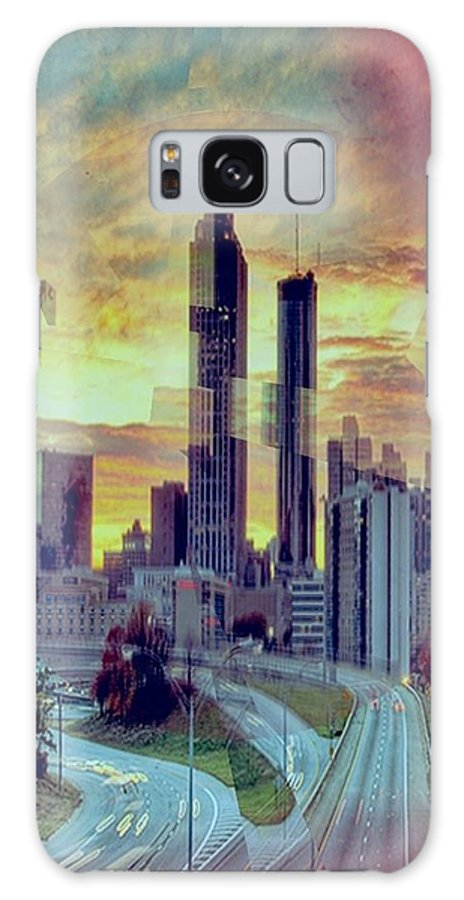 Cityscape Galaxy S8 Case featuring the digital art Focus On The City by Dael Um