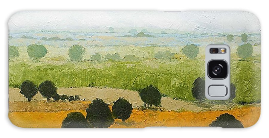 Landscape Galaxy Case featuring the painting Fog Lifting Fast by Allan P Friedlander