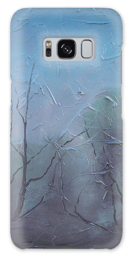 Landscape Galaxy Case featuring the painting Fog by Sergey Bezhinets