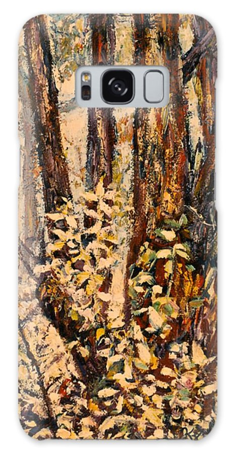Forest Galaxy S8 Case featuring the painting Foggy Forest Edge by Kendall Kessler
