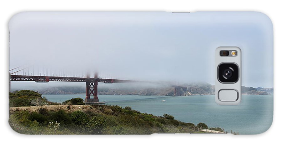 Suspension Bridge Galaxy S8 Case featuring the photograph Foggy Morning At The Bay by Christiane Schulze Art And Photography