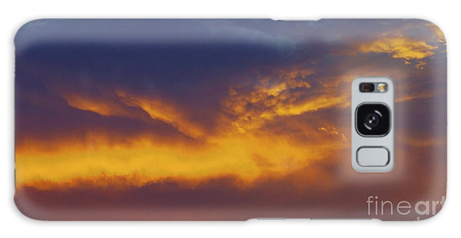 Sunset Galaxy S8 Case featuring the photograph Folded Sunset by Jeff Waugh