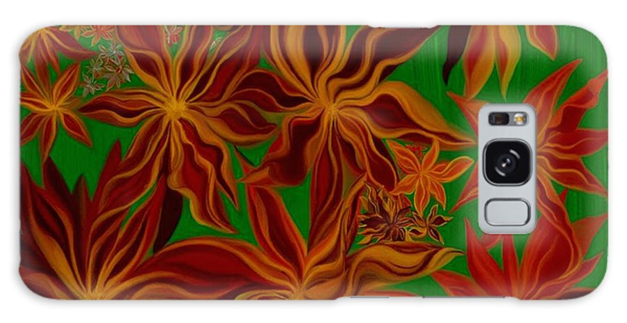 Digital Paintings Galaxy S8 Case featuring the painting Folding In Harmony by Jodi Eaton