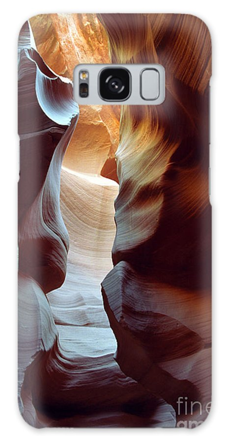 Slot Canyon Galaxy S8 Case featuring the photograph Follow The Light II by Kathy McClure
