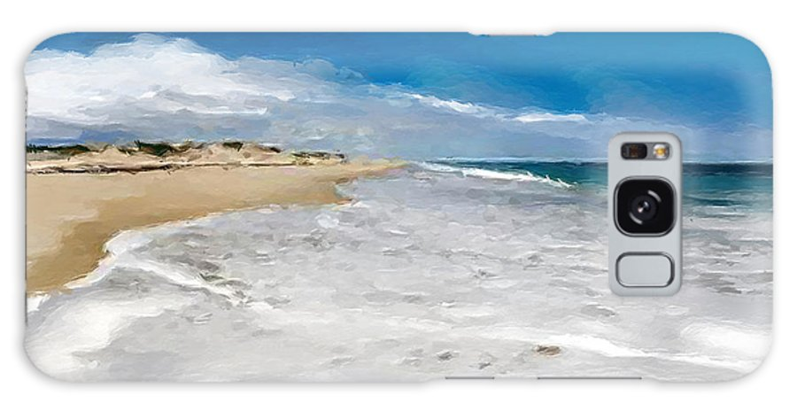 Anthony Fishburne Galaxy S8 Case featuring the digital art Folly Beach Scenic Walk by Anthony Fishburne