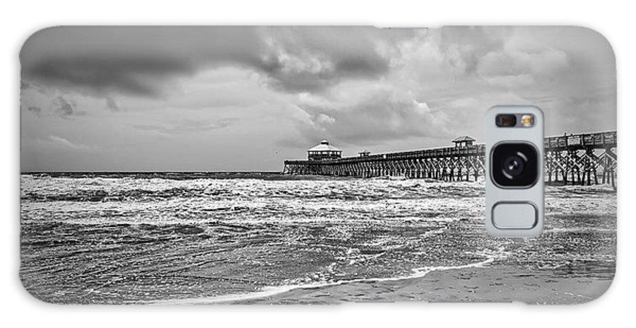 Beach Life Guard Galaxy S8 Case featuring the photograph Folly Pier by Sennie Pierson