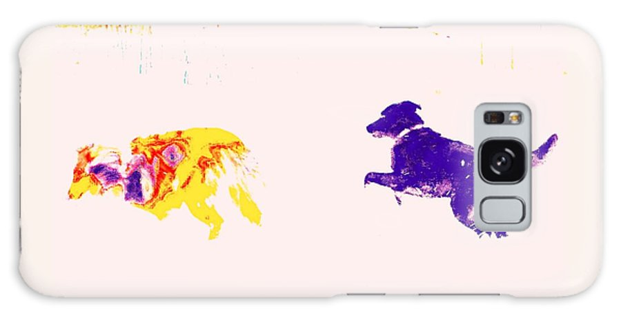 Dog Galaxy S8 Case featuring the photograph The Dogs Were Fooling Around In The Snow by Hilde Widerberg