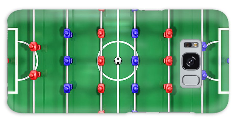 Foosball Galaxy S8 Case Featuring The Digital Art Foosball Table Top View  By Allan Swart