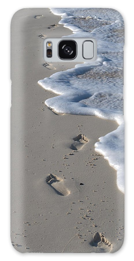 Caribbean Galaxy S8 Case featuring the photograph Footprints In The Sand by Caroline Stella
