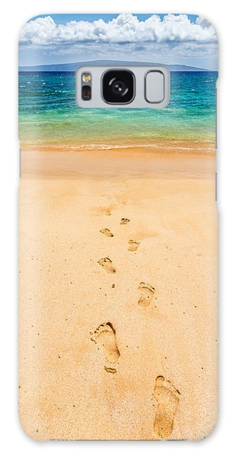 Foot Prints Galaxy S8 Case featuring the photograph Footprints Leading To Paradise by Pierre Leclerc Photography
