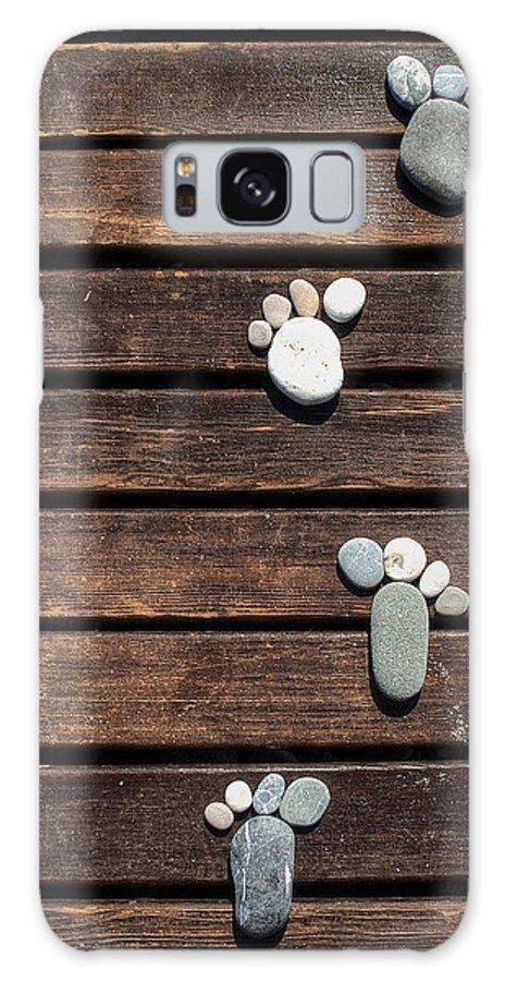Beach Galaxy S8 Case featuring the photograph Footprints by Matt Create