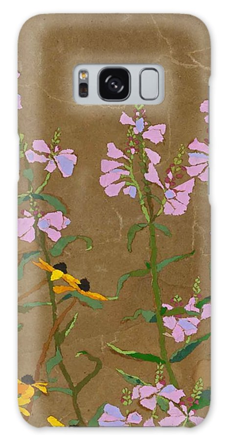 Floral Galaxy Case featuring the painting For Jack From Woodstock by Leah Tomaino