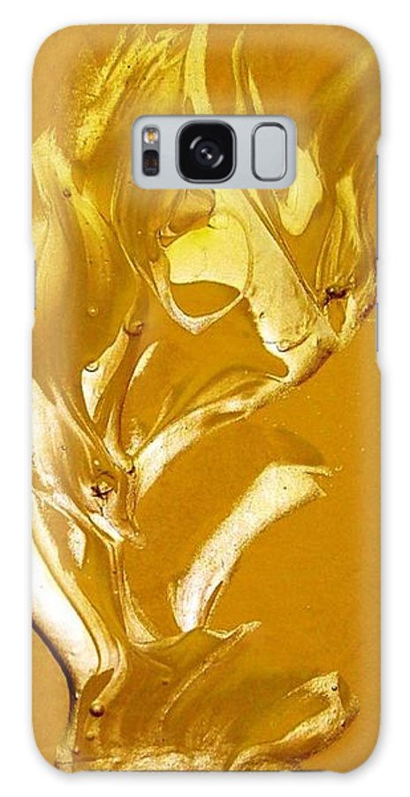 Gold Galaxy S8 Case featuring the painting For Love  For All by Bruce Combs - REACH BEYOND