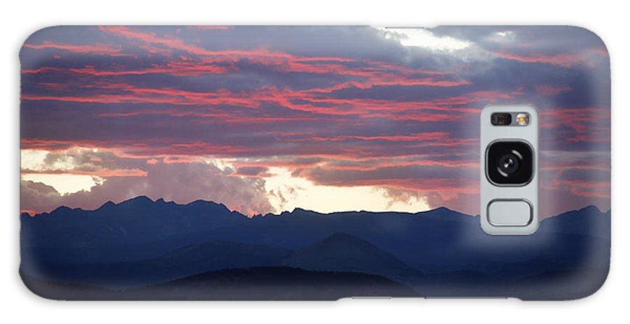Sunset Galaxy S8 Case featuring the photograph For Purple Mountains Majesty by Marilyn Hunt