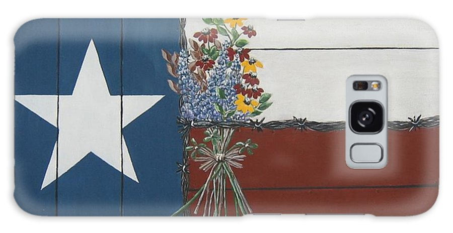 Texas Galaxy S8 Case featuring the painting For The Love Of Texas by Suzanne Theis