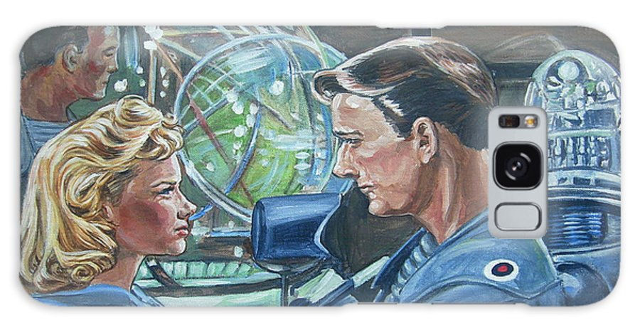 Forbidden Planet Galaxy S8 Case featuring the painting Forbidden Planet by Bryan Bustard