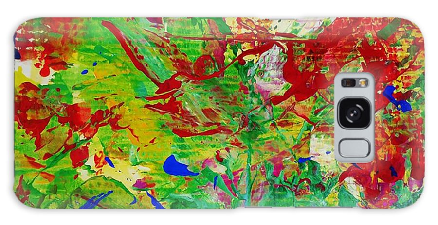 Abstract Galaxy S8 Case featuring the painting Forest Fence by Bruce Combs and Robbie Combs