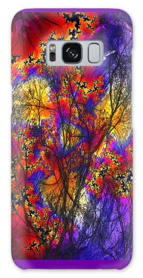 Forest Fire Galaxy S8 Case featuring the digital art Forest Fire by Lisa Yount