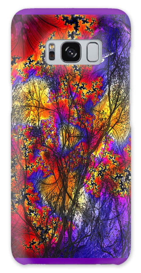 Forest Fire Galaxy Case featuring the digital art Forest Fire by Lisa Yount