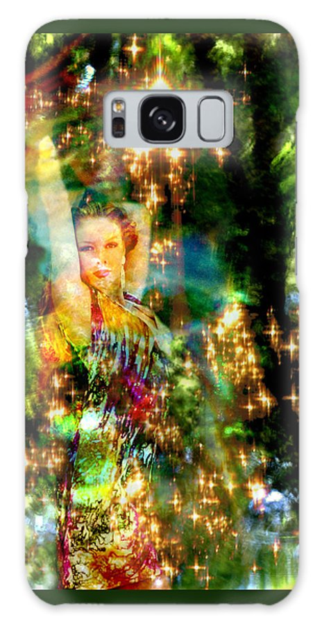 Forest Galaxy Case featuring the digital art Forest Goddess 4 by Lisa Yount
