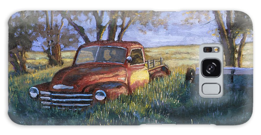 Pickup Truck Galaxy Case featuring the painting Forgotten But Still Good by Jerry McElroy