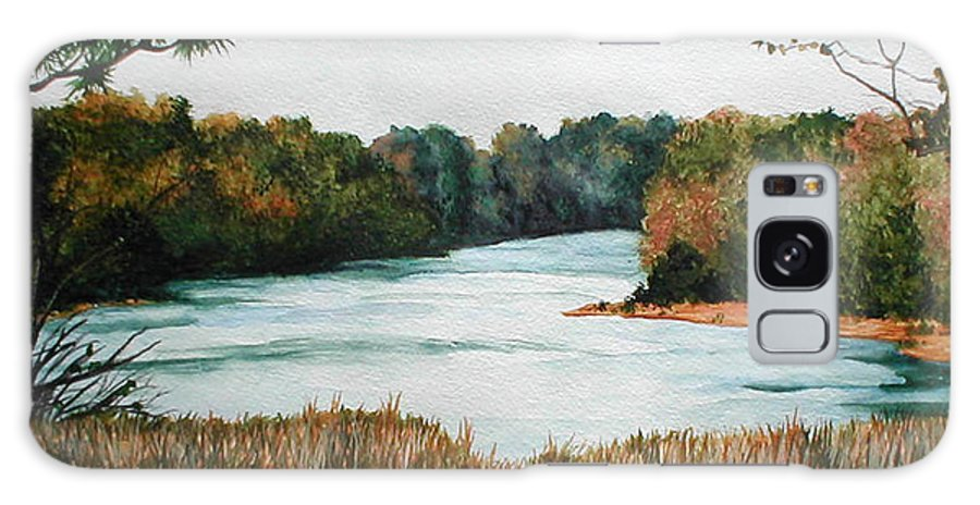 Watercolor Galaxy S8 Case featuring the painting Fort Toulouse Coosa Tallapoosa River by Beth Parrish