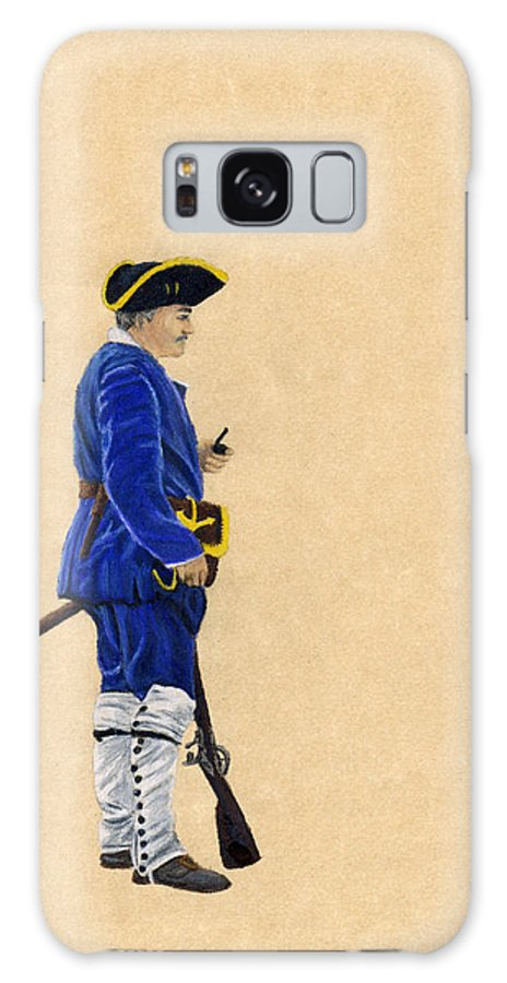 French Marine Galaxy S8 Case featuring the drawing Fort Toulouse Soldier At Ease by Beth Parrish