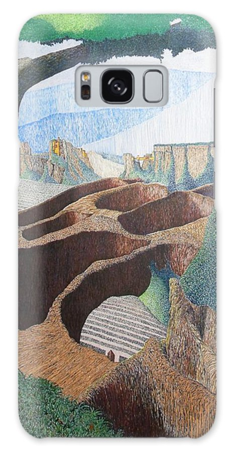 Landscape Galaxy Case featuring the painting Forte Rest by A Robert Malcom