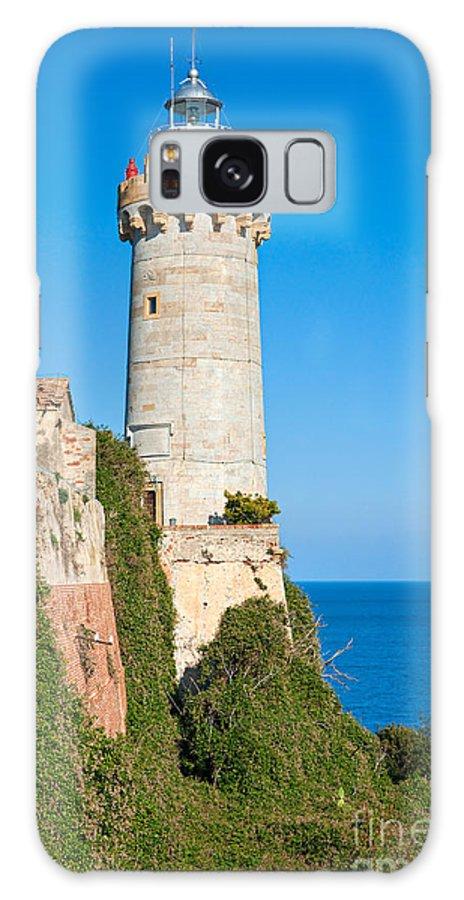 House Galaxy S8 Case featuring the photograph Forte Stella Lighthouse - Portoferraio - Elba Island by Luciano Mortula