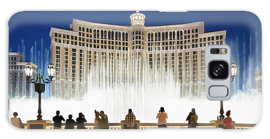 People Galaxy Case featuring the photograph Fountains Of Bellagio, Bellagio Resort by Sylvain Sonnet