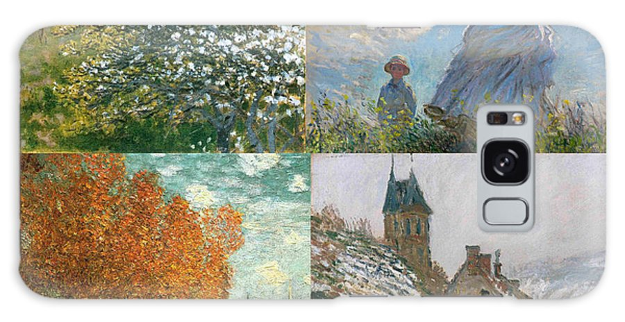 Monet Galaxy S8 Case featuring the painting Four Seasons A Collage Of Monets by Philip Ralley
