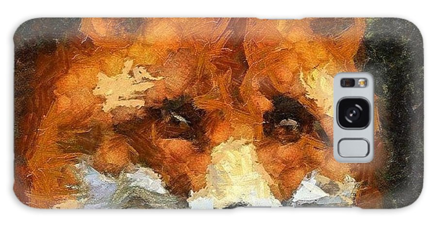 Galaxy S8 Case featuring the painting Fox by Panolamani Holdings