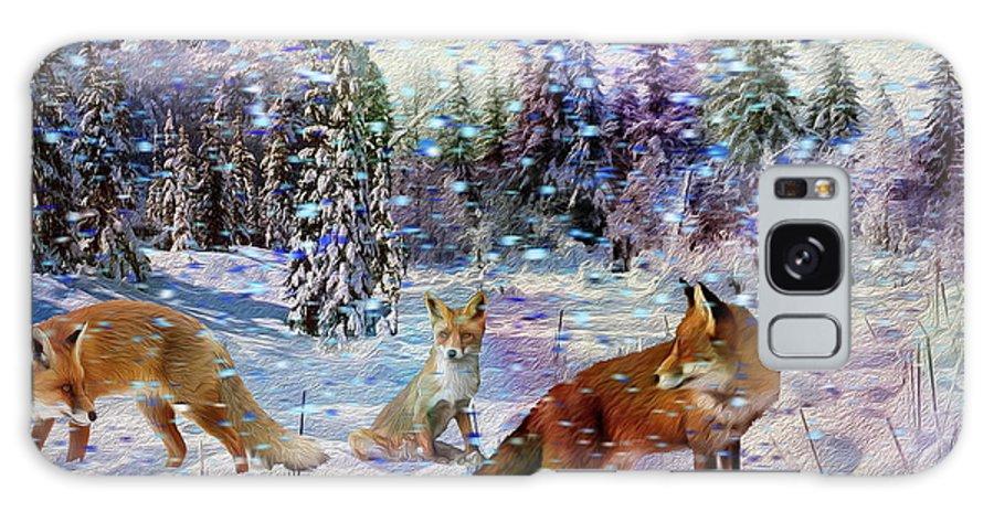 Galaxy S8 Case featuring the digital art Fox Storm by Michael Pittas
