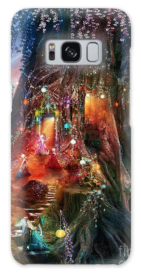 Tree Galaxy S8 Case featuring the digital art Foxglove Ball by Aimee Stewart