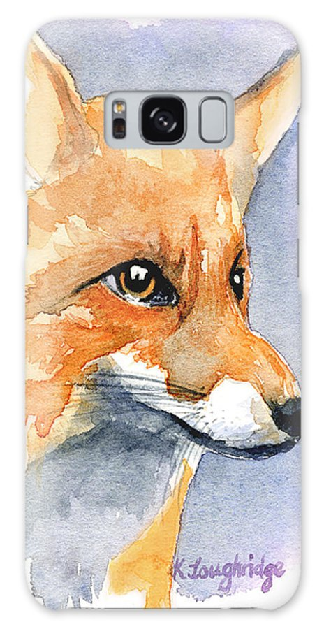 Foxy Galaxy S8 Case featuring the painting Foxy by Karen Loughridge KLArt